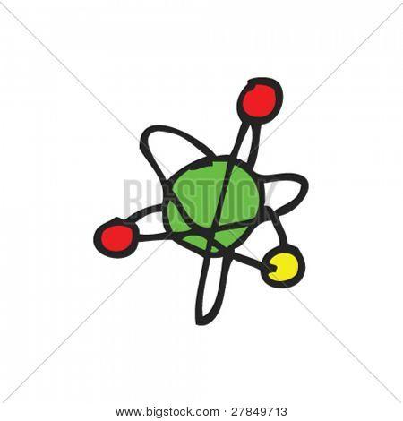 eigenartige Zeichnung eines Atoms