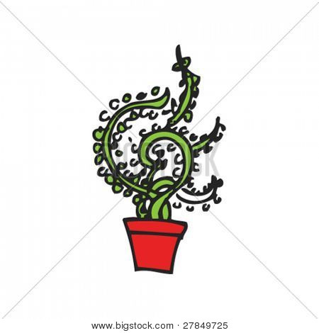 quirky drawing of a plant