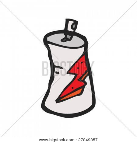 quirky drawing of a spraypaint can
