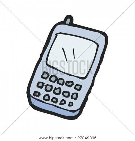 dibujo original de un teléfono móvil
