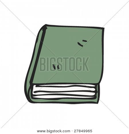 quirky drawing of a book