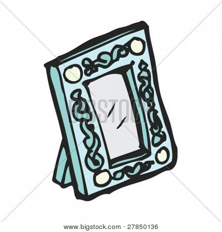 quirky drawing of a photo frame
