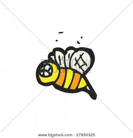 quirky drawing of a bee