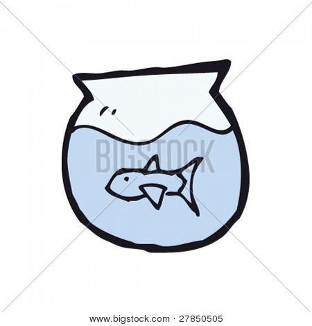 quirky goldfish bowl drawing
