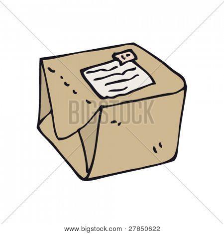 schrulligen Zeichnung eines Pakets