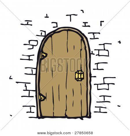 dibujo original de una puerta en la pared