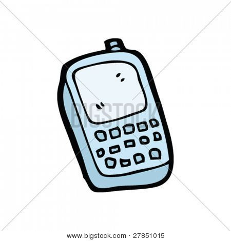 quirky drawing of a mobile phone