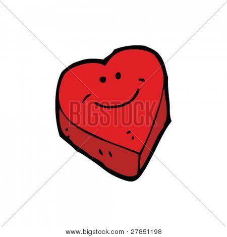 quirky cartoon heart