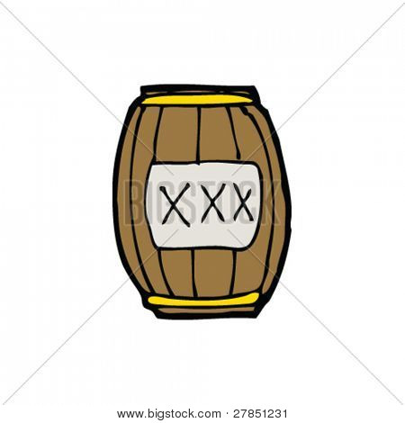 quirky drawing of gunpowder barrel