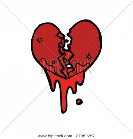 broken heart cartoon