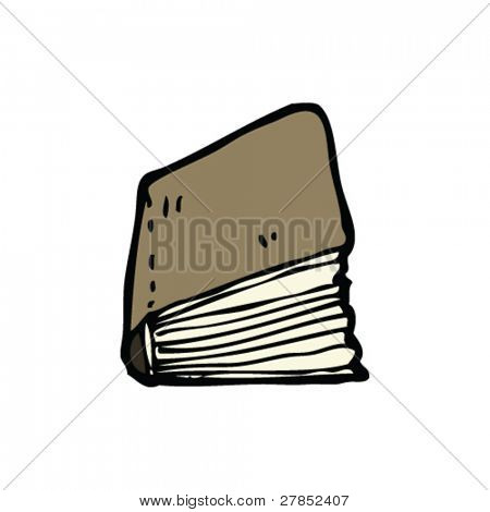 leather bound book cartoon