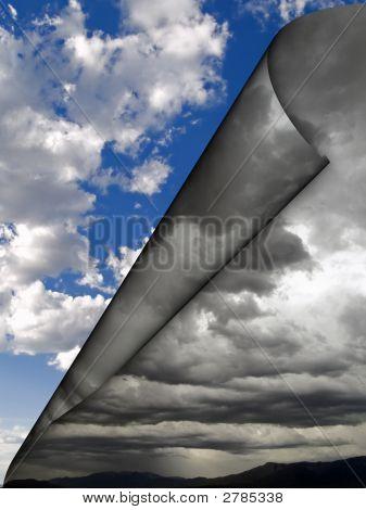 Nubes oscuras lejos del balanceo