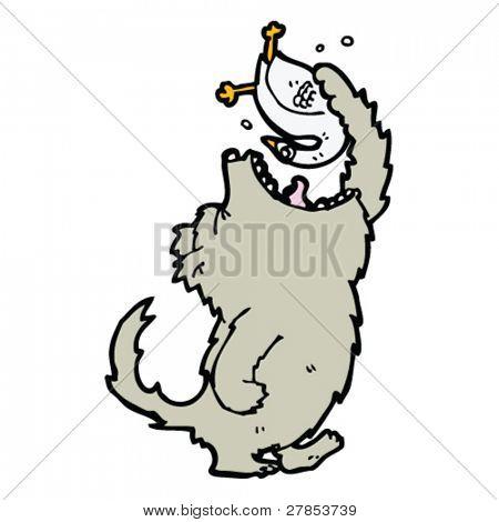 wolf eating goose cartoon