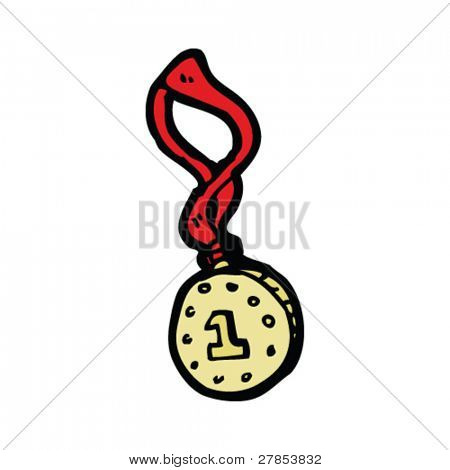 1st place medal cartoon