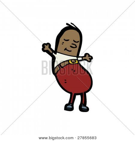happy coffee bean man cartoon