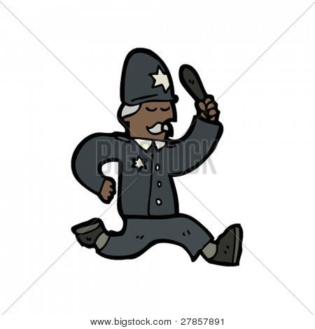 running policeman cartoon