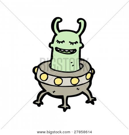 happy alien cartoon