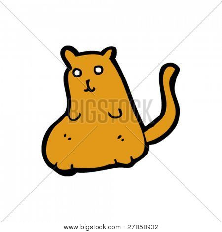 obese cat cartoon
