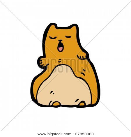 obese cat cartoon