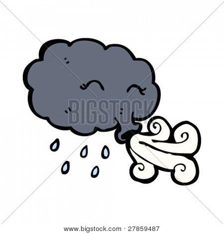 black cloud blowing wind cartoon Stock Vector & Stock Photos ...