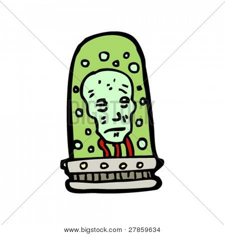 head in a jar cartoon
