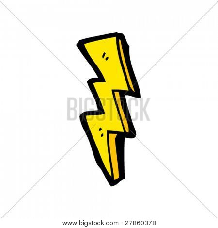 cool lightning bolt cartoon
