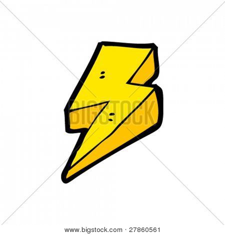 retro lightning bolt cartoon