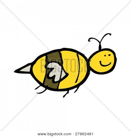 child's drawing of a happy bee