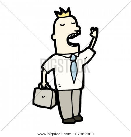 annoying salesman cartoon