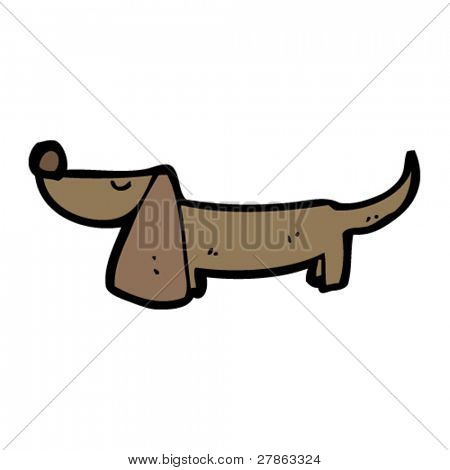 sausage dog cartoon