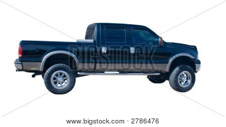 Black Four Door Truck