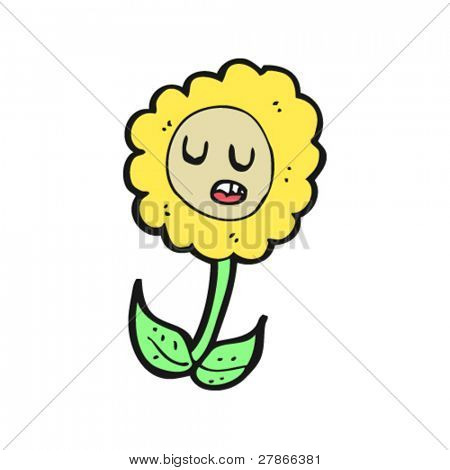 retro sunflower cartoon
