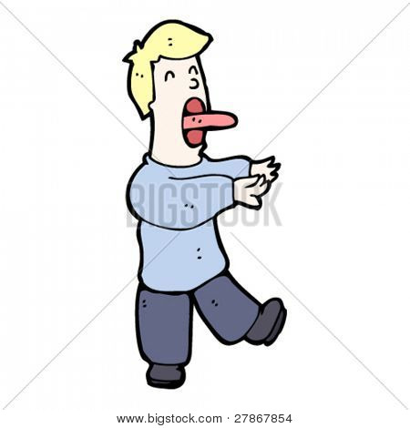 sleepwalking man cartoon