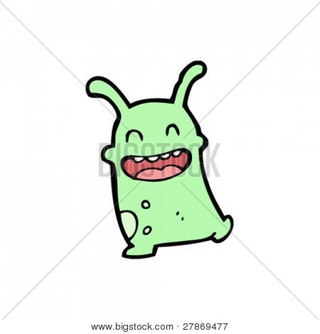 happy little alien cartoon