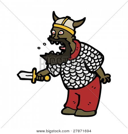 Viking Berserker cartoon