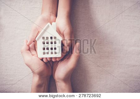 Adult And Child Hands Holding