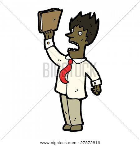 stressed businessman cartoon