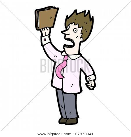 stressed businessman cartoon