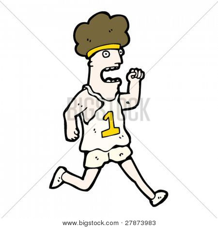 marathon runner cartoon