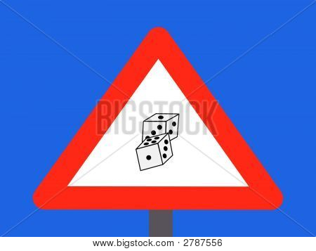 Warning Gambling Sign