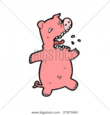 screaming pig cartoon