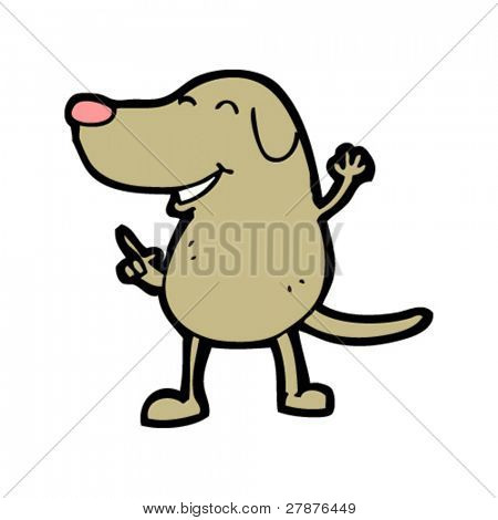 happy disco dancing dog cartoon