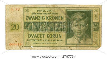 20 Koruna Bill Of Czechia, 1944