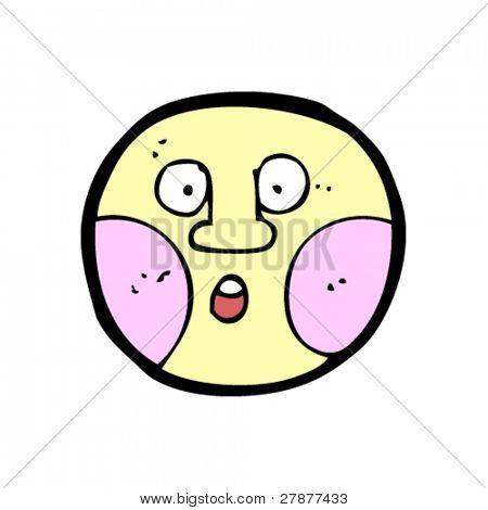 embarrassed emoticon face cartoon