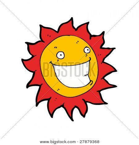 happy cartoon sun