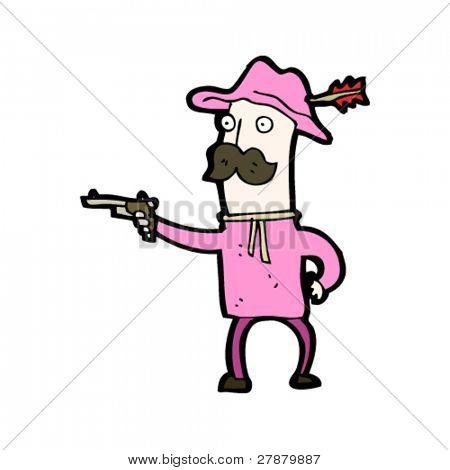 gay cowboy hero cartoon