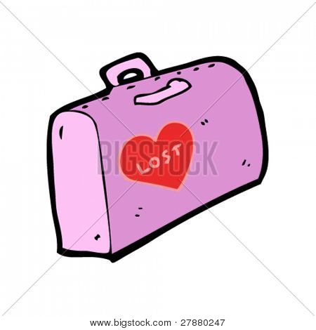lost love luggage cartoon
