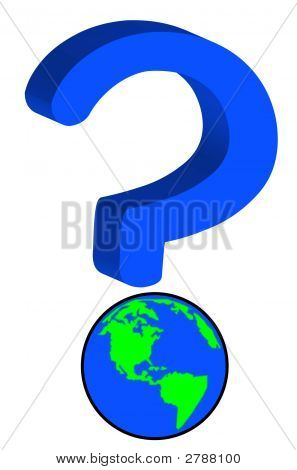 Earth As Part Of Question Mark