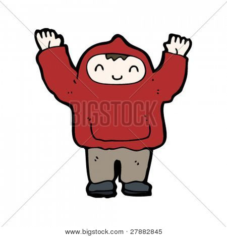 teen in hoodie cartoon
