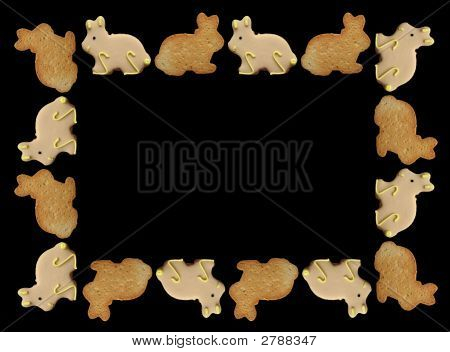 Easter Bunny Cookies Frame